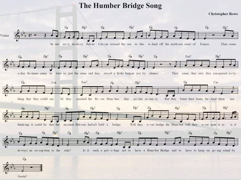 THe Humber Bridge Song music sheet